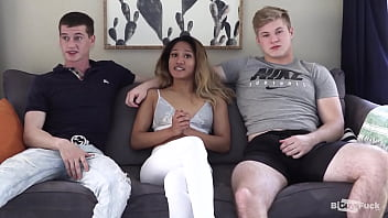 BIG DICK From London Splits Teen HOLE On Troy AND Petite Asian Tina!