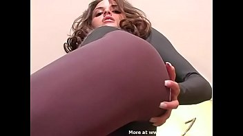 Renee Perez Penthouse Pet Super Sexy Wolford Bodysuit Grey Pantyhose & Leotard Print Tights SOLO JOI 20 min