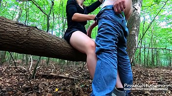 Fabulous Forest Fuck! Risky Outdoor Sex With Sweet Blonde