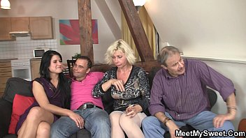Sweetie gets lured into 3some by her BF'_s parents homemade hotel porn