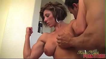 Buff nudes - Female bodybuilder mistress amazon get worshiped