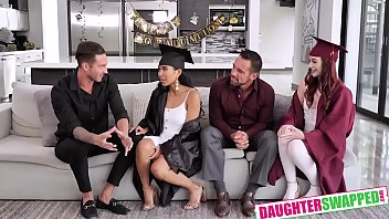 Jada Kai , Danni Rivers In Graduation Daughter Bangers