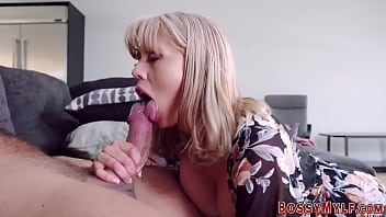 Big tit milf gets pussy eaten out