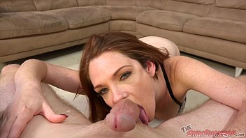 Redhead freckle face - Kassondra raine facefucked in pov