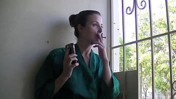 Helena Price Smoking 1 - Thinking about my date while smoking a cigarette...
