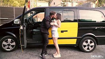 CHICAS LOCA - Tattooed Spanish babe enjoys sex outdoors with horny cab driver