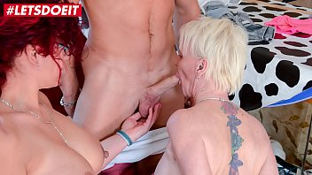 LETSDOEIT - German Mature BFF'_s Ride a Young Cock