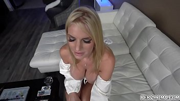 Rachael Cavalli shows her pervy stepson her fat tittes and her blowjob talent