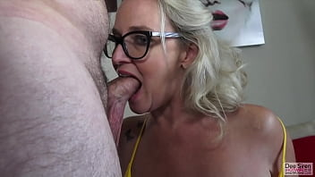 MILF Plays with Her Favorite White Cock