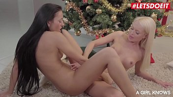 LETSDOEIT - Christmas Lesbian Romantic Sex With Two Glamorous Czech Babes (Lena Love & Bailey Ryder)