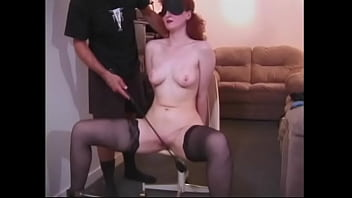red haired chick flinches every time a mature dude slaps her ass min