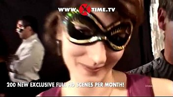 Rocco Siffredi's interracial mask orgy