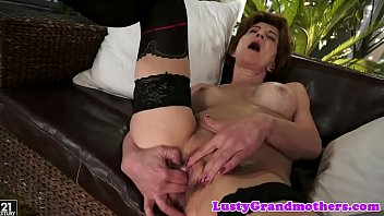 Busty grandma orally pleased and screwed