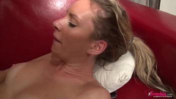 Blonde girl want to take 3 cocks in casting