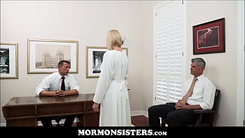 Virgin Blonde Teen Mormon Daughter Orgasms In Front Of Her Dad The Church President