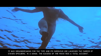 Jaws: Sexy Nude Blonde Skinny Dipping Girl GIF