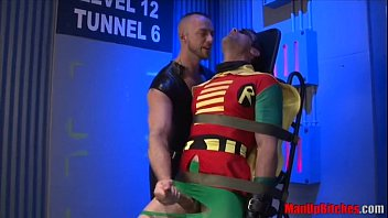 Gay superhero pictures Robin gets edged and abused by jessie colter