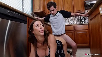 Stepson's dick is always hard, better do something about it stepmom!
