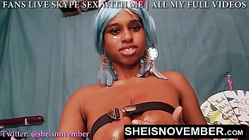 Msnovember Huge Young Nipples Areolas And Natural Breasts Covered In Oil, Ebony Babe Rubbing Her Tatas on Sheisnovember