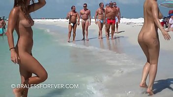 On The Beach Naked Showing Off To Everyone
