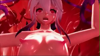 [MMD R-18] Yowane Haku Fucked by More Tentacles