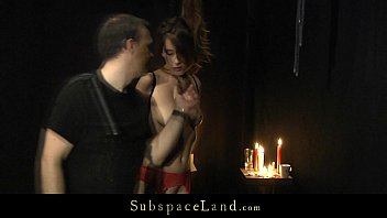Tina in sexy red lingerie exploited in bdsm fantasy