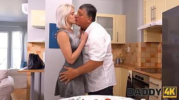 DADDY4K. Your dad is a cook and he wants to taste your girlfriend on his cock