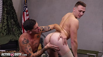 """Enlistee Justin Lewis Bareback Fucked By Chris Damned - ActiveDuty <span class=""""duration"""">13 min</span>"""