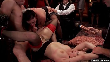 Two slaves fucked for the amusement