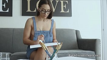 Sexy painter filled with models big black cock thumbnail