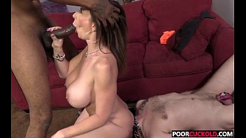 Cuckold watching his Hotwife Sara Jay banging with a big black cockock