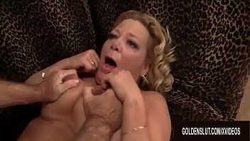 Blonde GILF Karen Summers Has Her Hairy Pussy Stuffed by an Old Man
