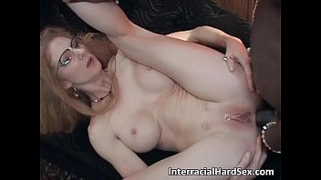 Blonde slut with glasses is caught