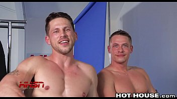 HotHouse Roman & Aston Hot Raw Sex at Photoshoot & Cum All Over Abs