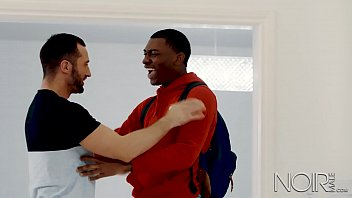 Gay male teasing and tickiling Noirmale my cute black teen step brother is home from college