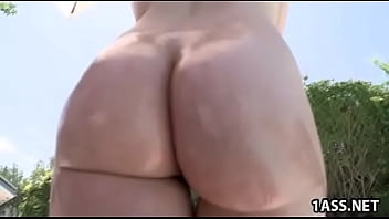 Danielle Delaunay gets her oiled ass fucked