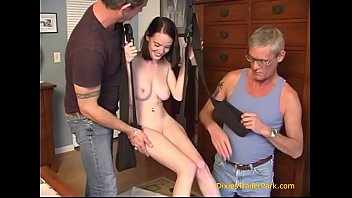 Put In The Swing By Her Taboo Dad And Uncle