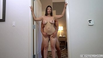 Big tits Latina mom lets stepson fuck her tight milf pussy and he cums all over her ass