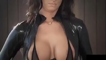 Brunette fucking in leather/latex clothes and high heels fetish