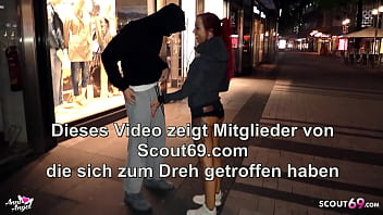GERMAN REDHEAD TEEN BITCH PICKUP STRANGER IN COLOGNE TO SEX 5 min