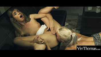 Gorgeous MILF seduces younger lesbian, eating her hot pussy and tight ass