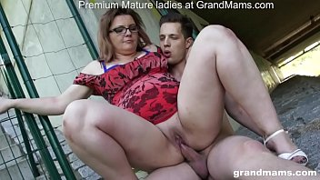 Adult videos young Mature teacher situation turnaround in skatepark grandmams.com
