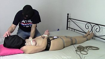 Wife in bondage and with plastic b. 12 min