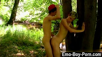 Twink movie of Skylar West has been waiting in the forest for his