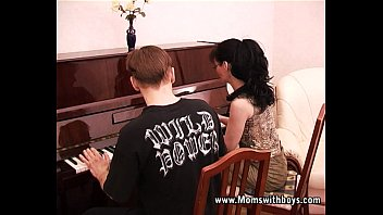 Upright vintage piano - Mature horny piano tutor fucking her student