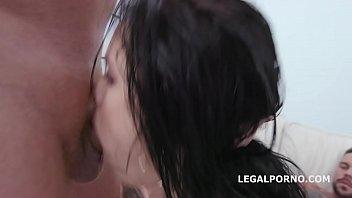 DAP Destination Juicy Leila 4on1 Balls Deep Anal, First DAP, Gapes and Swallow GIO1390