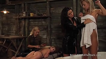 Kinky Lesbian Madame Moans And Orgasms Under Big Strapon