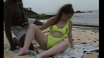 Teen In The Caribbean, Get's DP On The Beach By 2 BBC