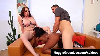 Ebony milf catches her husband youjizz Maggie green shares hubby with black sitter harmonie marquis