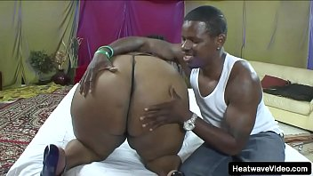Ebony slut loves a big cock in her huge black booty and enormous tits